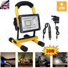 More details for 30w led rechargeable cordless work site flood light mobile portable camping lamp