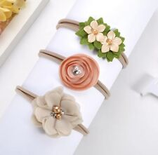 3Pcs Baby Girls Infant Toddler Flower Bow Headband Hair Band Accessories
