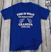 Grandpa T-shirt This is What The World's Best Grandpa Looks Like Shirt Gift Tee