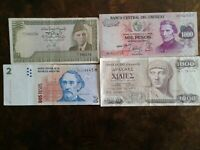 WORLD PAPER MONEY 1987 GREECE 1000 DRACHMAI + 3 *BANK NOTES* Collectibles