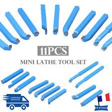 Outils de D/écoupe de Tour 16x16mm Set dOutils pour Tour avec Pointe en Carbure 11 Pi/èces