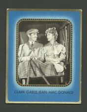 Clark Gable Jeanette MacDonald 1930s Movie Film Star Collector Card from Germany