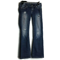 Silver Jeans Pioneer Boot Cut Distressed Embellished Medium Wash Womens 26 x 31