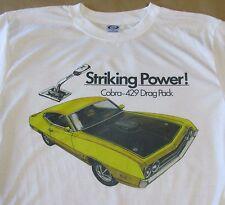 1970 Ford Torino Cobra 429 Drag Pack Graphic T-shirt - Men's Small - 3XL - Sharp