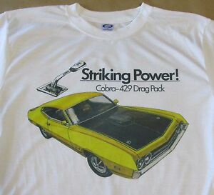 1970 Ford Torino Cobra 429 Drag Pack Graphic T-shirt - Men's Small - 3XL - Sharp