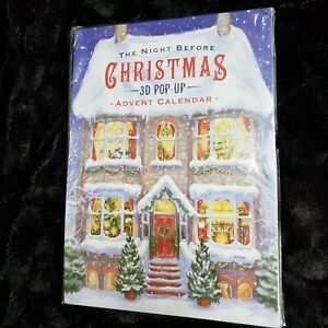The Night Before Christmas 3D Pop-Up Advent Christmas Calendar NEW OPEN PACK