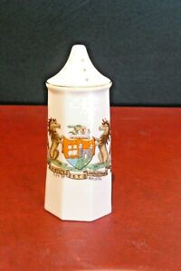 ARCADIAN Crested China - PEPPER POT - Crested for BRISTOL- Very Good