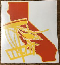 6� California Disc Golf Vinyl Decal