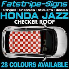 HONDA JAZZ CHECKER ROOF GRAPHICS STRIPES STICKERS DECALS VTEC NAVI SPORT 1.3 1.5