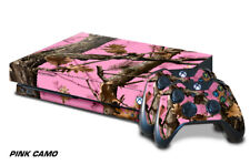Designer Skin for Xbox One X Gaming Console +2 Controller Sticker Decals PINK CO