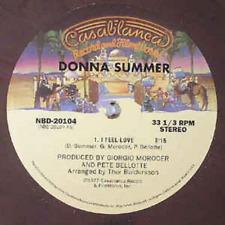 """Donna Summer – I Feel Love,  Vinyl, 12"""", Brown Marbled, US, NBD 20104."""