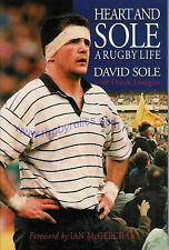 DAVID SOLE BATH SCOTLAND & BRITISH LIONS RUGBY BOOK