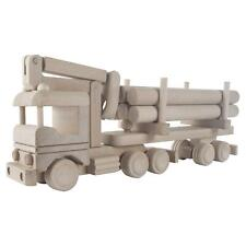More details for wooden self loading lorry track timber transport beechwood vehicle decor paint