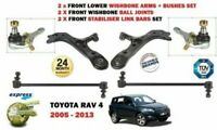 FOR TOYOTA RAV 4 2006-> 2X WISHBONE SUSPENSION ARMS + 2X LINKS + BALL JOINT SET