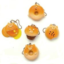 Shiba Inu Bread Dog Figure Charm Keychain Gashapon 1 Random Toy