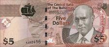Bahamas 5 Dollars 2007 Pick 72