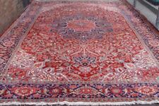 QUALITY HERIZ SERAPI HAND-KNOTTED WOOL LARGE ANTIQUE ORIENTAL RUG 12' X 18'