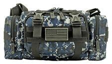 EastWest USA Tactical MOLLE Attachable Military Range Gear Bag BLUE DIGITAL CAMO