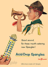 VINTAGE SPANGLES ACID DROP SWEETS ADVERTISING A2 POSTER PRINT