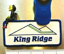 KING RIDGE ~ Vtg. Ski Patch ~ Lost Ski Area (1961-1995) ~ New London, NH ~ #1