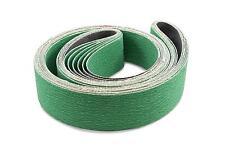 2 X 72 Inch 100 Grit Metal Grinding Zirconia Sanding Belts, 6 Pack