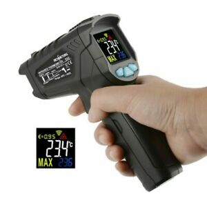 550℃/800℃ Non-Contact Digital LCD infrared Thermometer Gun RICHMETERS+Humidity A