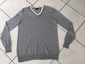 Pull FACONNABLE taille S/M/L coton,soie et cachemire  gris  très bon état