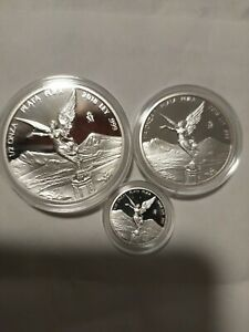 2018 PROOF LIBERTAD ~ MEXICO ~ 1/2 1/4 1/20 OZ Proof Silver Coin in Capsule