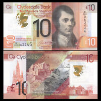Scotland 10 Pounds, 2017, P-NEW, Polymer, Clydesdale bank, UNC