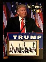 Donald Trump 2020 Supreme Cuts Sample Card Make America Great Again