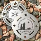 """Christmas Shepherds Geomedal Geocoin (2"""" + Cutouts, Unactivated)"""