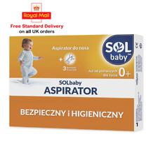 SOLBABY Baby Safe & Hygienic Nasal Aspirator + 3 Extra Soft Tips  Dziecko Nos