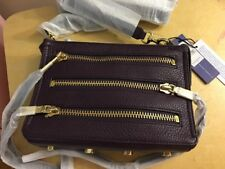 NWT Rebecca Minkoff Moto 3 Zip Crossbody Bag Aubergine Purple