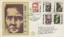 143503 BUSTA FDC  primo giorno first day san marino  marie s curie 1867 1934