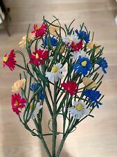 Vtg Millinery Picks Multi Color Wild Flowers  Wedding  Doll Hat