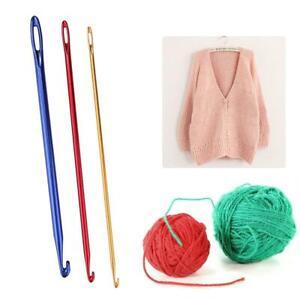 3pcs/set Aluminium Oxide Crochet Hooks Knitting Sewing Needle with Hole Eye