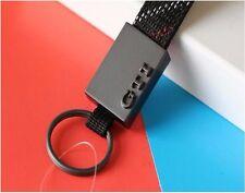 Wholesale Key Ring Keychain VW GTI Titanium Alloy Fabric with Scottish Tartan