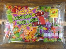MEXICAN CANDY DULCES 50 CHEWY POP SWEET & SOUR CANDY CHILI DE LA ROSA