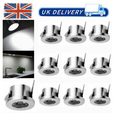 10x 1W LED Recessed Small Cabinet Mini Spot Lamp Ceiling Downlight Cool White