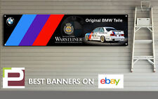 BMW e30 Warsteiner BTCC Banner for Workshop, Garage, Man Cave, M Sport, M3
