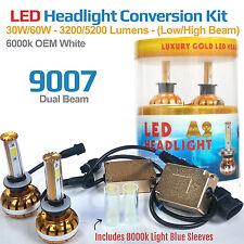 9007 Dual Beam 6000K White - LED H-Light Conversion Kit 30W COB + 8k Blue Sleeve