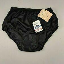 Unworn Vintage Panties w Tags Black Lace Underwear 60's 70's Calais Lace Size 4