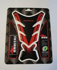 "ORBITAL TANK PROTECTOR GEL PAD - HONDA - BLACK/RED - 5"" x 7.2"""