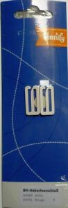 2 Piece Bra Bikini Hook Clasp 18 MM (Bridge Width) Metal White