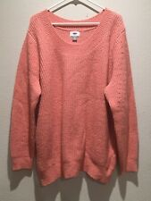 Old Navy Womens Pink Cozy Sweater Size 2X