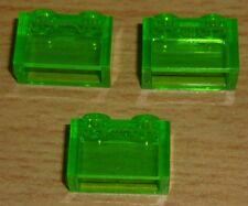 Lego 3 Steine 1 x 2 in transparent hell grün