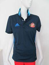 ADIDAS - BLUE - SUNDERLAND AFC S/SLEEVED, POLO T-Shirt Size SMALL