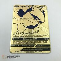 Carte Pokemon Metal Gold / Lugia GX Card Fan Made / EX