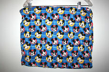 """Vintage Kids Disney Mickey Mouse Faces Blue Small Pillow Sham 18""""x15"""""""