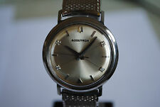 "VINTAGE BULOVA ACCUTRON DIAMOND 214 TUNNING FORK  M4 1964 ""BEAUTIFUL"""